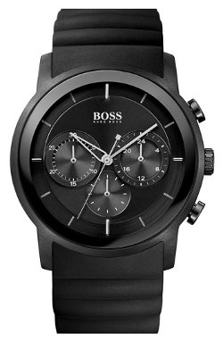 Boss Hugo Boss  - Round Chronograph Rubber Strap Watch