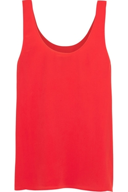 Equipment  - Kaylen Washed-Silk Tank Top