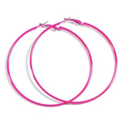 NeonEarrings - Hot Pink Neon Hoop Earrings