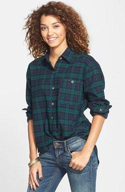 Mimi Chica - Plaid Cotton Flannel Shirt