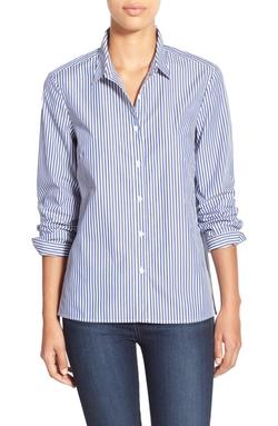 Halogen - High/Low Hem Poplin Shirt