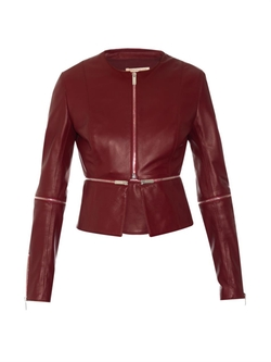 Christopher Kane - Two-Way Zipped Leather Biker Jacket