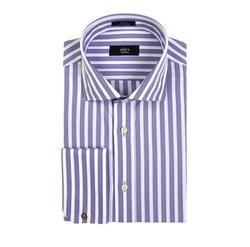 Alara - Textured Bengal Stripe French Cuff Dress Shirt
