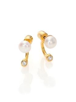 Pamela Love  - Gravitation Cultured Freshwater Pearl Stud Earrings