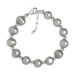 Pearl Compositions - Sterling Silver Gray Freshwater Pearl Bracelet
