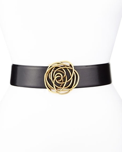 Oscar de la Renta - Swirl Rose Ornament Belt