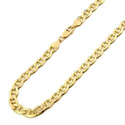 GoldenMine - Concave Mariner Chain Necklace with Lobster Claw Clasp