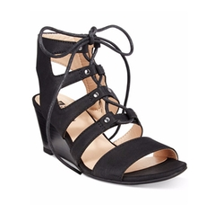 White Mountain - Gillis Lace-Up Wedge Sandals