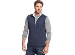 Club Room - Sherpa-Lined Full-Zip Vest