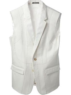 Maison Margiela - Stitched Detail Waistcoat
