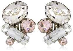 Sorrelli - Crystal Clear Multi-Cluster Clip-On Earrings