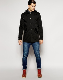 Asos - Hooded Trench Coat