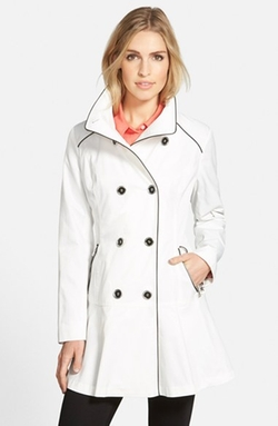 Guess - Piped Stand Collar Trench Coat