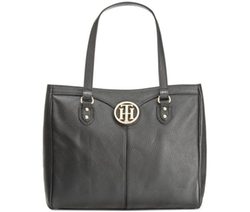 Tommy Hilfiger  - Maggie Pebble Leather Medium Tote Bag