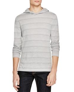 John Varvatos Star USA  - Textured Stripe Pullover Hoodie Sweater
