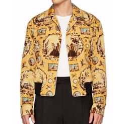 Burberry  - Printed Twill Bomber Jacket