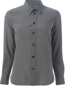 Saint Laurent   - Diagonal Stripe Shirt