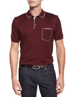 Salvatore Ferragamo - Tipped Pocket Polo Shirt