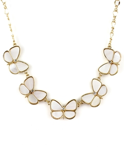 ROMWE - Butterfly Chain Necklace