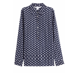 Diane Von Furstenberg - Cotton-Silk Printed Blouse