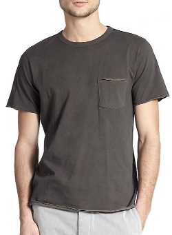 Rag & Bone - Raw-Edge Cotton Pocket T-Shirt