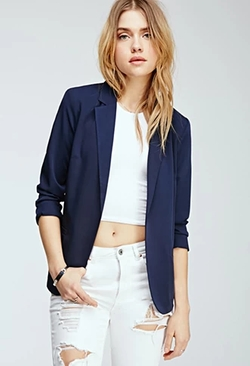 Forever 21 - Classic Open-Front Blazer
