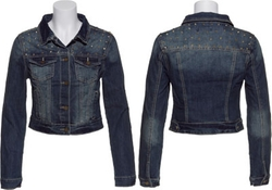 YMI Jeans  - Spike Studded Denim Stretch Jacket