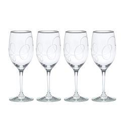 Love Story - Platinum Wine Glasses