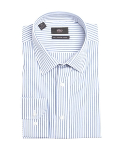 Alara - Striped Cotton Point Collar Dress Shirt