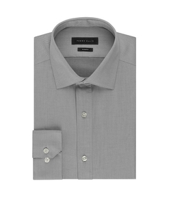 Perry Ellis  - Premium Slim-Fit Spread-Collar Dress Shirt