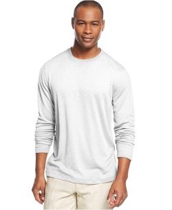 Tasso Elba - Long Sleeve Ribbed Slub T-Shirt