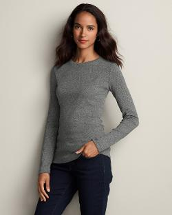 Eddie Bauer - Favorite Long-Sleeve Crewneck T-Shirt