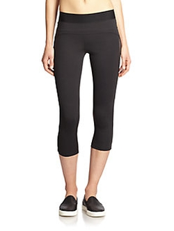 Heroine Sport - Brushed Tech Jersey Studio Capri Leggings