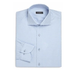 Saks Fifth Avenue Collection - Regular-Fit Check Cotton Dress Shirt