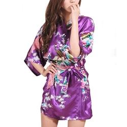 Faybox - Peacock Short Kimono Robe
