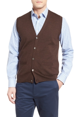 Brooks Brothers - Button Front Wool Sweater Vest