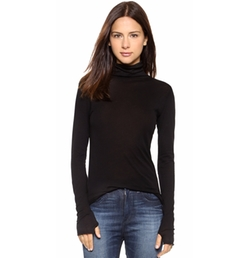 Enza Costa - Tissue Jersey Turtleneck Top