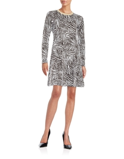 Michael Michael Kors - Zebra Print Sweater Dress