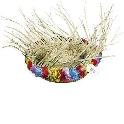 Fun Express - Flowered Straw Beachcomber Hat