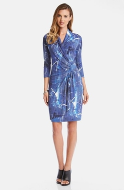 Karen Kane - Watercolor Print Wrap Dress