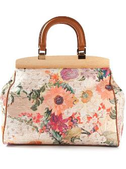 Tory Burch - Embroidered Floral Tote