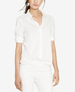 Lauren Ralph Lauren  - Piqué-Knit Shirt