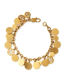 Tory Burch - Logo-Disc Charm Bracelet