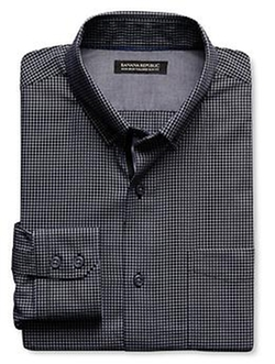 Banana-Republic - Tailored Slim-Fit Non-Iron Graph Oxford Shirt