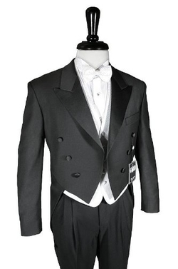 Cardi - Satin Lapel Tail Coat Tuxedo Suit