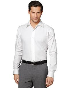 Van Heusen Shirt - Long-Sleeve Satin Striped Shirt