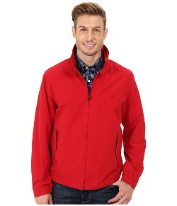 Nautica  - Fashion Color Of Anchors Barracuda Bomber Jacket