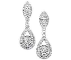 Wrapped in Love - Diamond Dangling Drop Earrings
