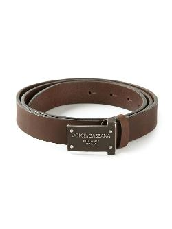 Dolce & Gabbana  - Logo Plaque Buckle Belt