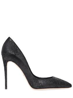 Dolce & Gabbana  - 105mm Kate Nappa Leather & Lace Pumps